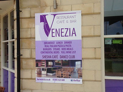 exeter printed posters - devon signs - exeter quay signs - big signs