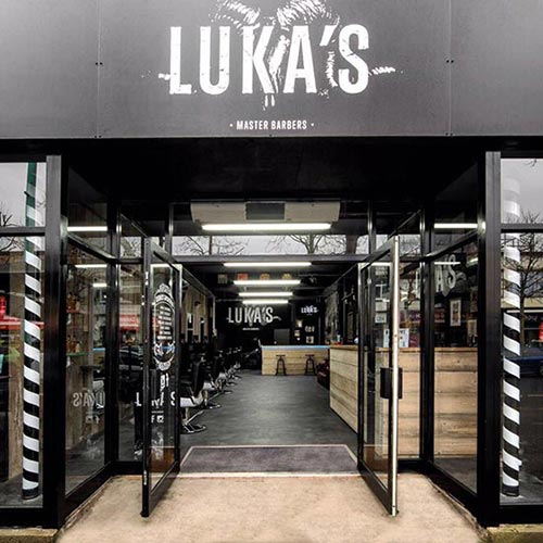 Lukas Barbers Shop Signage