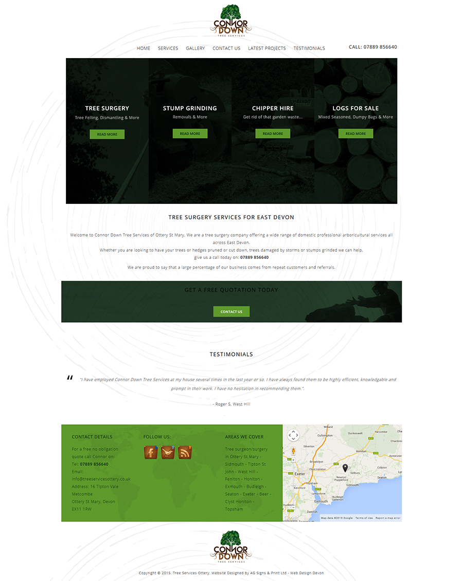 Web design Ottery St Mary