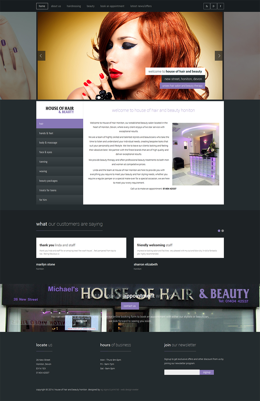 House of Hair and Beauty Honiton