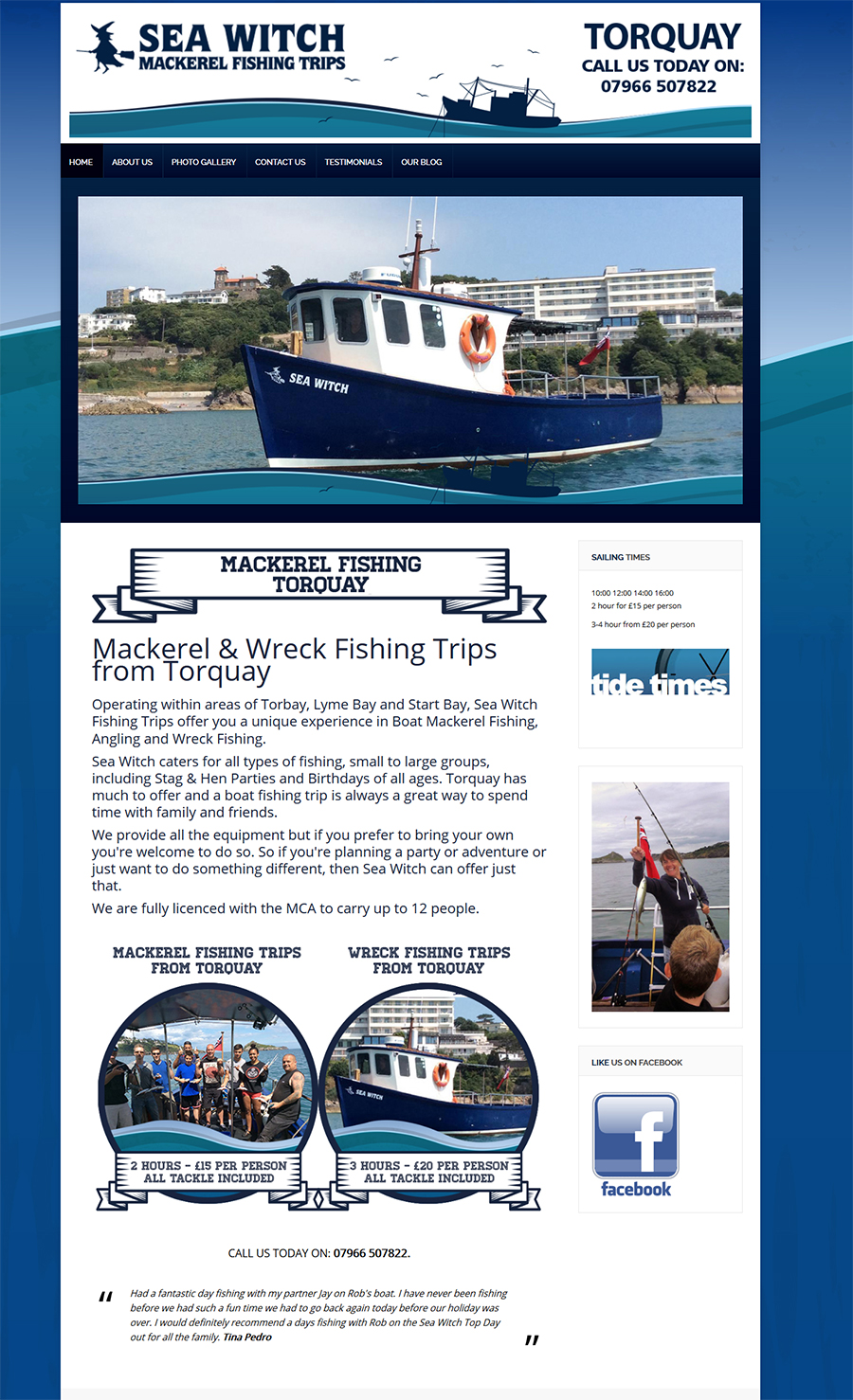 Mackerel fishing Torquay
